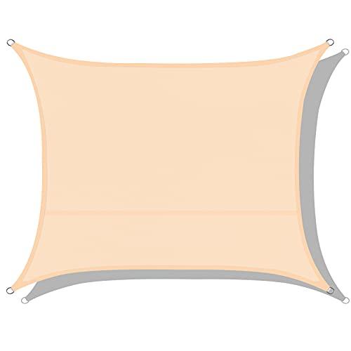 Toldos Impermeables Exterior, Eletorot Toldo Vela Rectangular 2 x 3 m,Toldos Exterior Terraza 95% Protección UV para Patio de Jardín Terraza Exteriores
