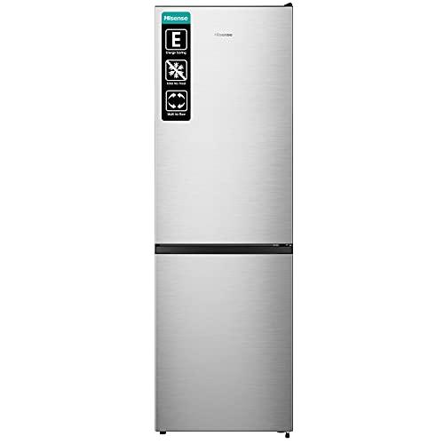 Hisense RB390N4AC2 - Frigorífico Combi No Frost, Capacidad Neta 300 L, 186 cm Alto, ECO mode, Silencioso 38 dBA, Color Acero