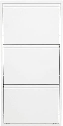 KARE 49287 Caruso - Zapatero a 3 Solapas, Blanco, 103 x 50 x 14 cm