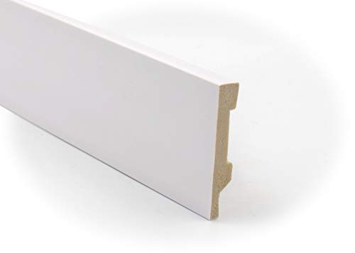 Zócalo - Rodapié Blanco de PVC hidrófugo, 7cm de alto y 220cm de largo