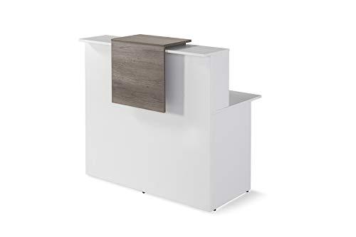 Mostrador De Recepcion Moderno De OFITURIA Color Blanco Perfecto Para Empresa y Oficina Con Entrega Inmediata 48-72H Medidas 1200x740x1150 MM