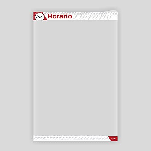 PosterFix A4 Horario - Sistema Portaposter y Portacarteles con marco adhesivo removible y cierre magnético, fundas y marcos para posters, carteles, en paredes y escaparates. Pack 2 Unidades