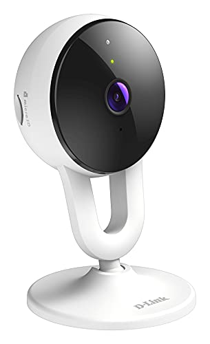 D-Link DCS-8300LHV2, Cámara de vigilancia/Seguridad WiFi, Full HD, 120°, visión Nocturna, Acceso Remoto con App, Amazon Alexa, grabación en la Nube por detección Personas, WPA3, ONVIF