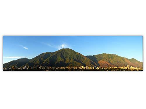 Foto Canvas Cuadro del Ávila Caracas Venezuela | Fotografía Panorámica Impresa en Lienzo | Cuadros Panorámicos listos para Colgar | decoración tamaño 80 x 20 cm