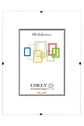 Chely Intermarket | 27A1A | Marco Clip 40x50cm de metacrilato | Soporte sin Marco para fotografías, Posters, certificados y Recuerdos. Complemento Ideal para Colgar en la Pared(300-40x50-0,85)