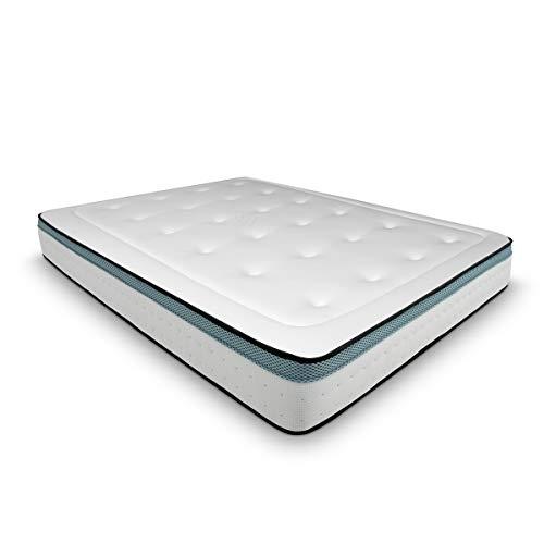Duérmete Online Colchón Viscoelástico Bio MAX con Viscogel | Firme y Confortable | Anti-ácaros e Hipoalergénico, 160 x 200