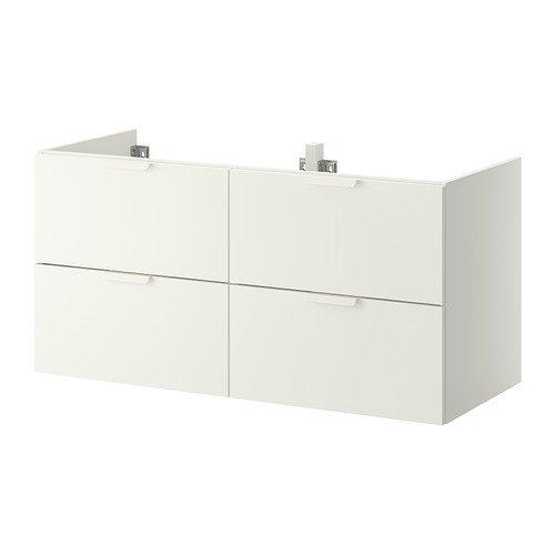 Ikea GODMORGON - Mueble de baño con 4 cajones, color blanco - 120x47x58 cm