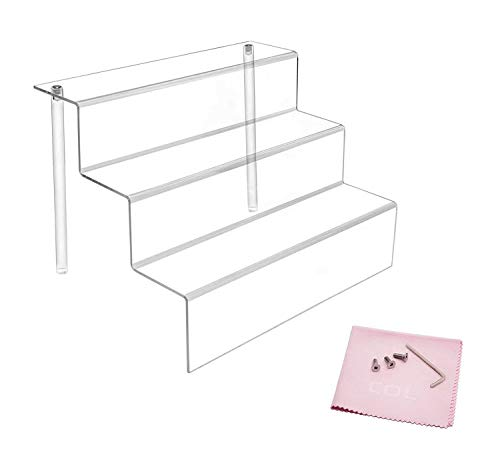 Combination of Life 30.5x21.6x22.2cm acrílico Transparente Expositor con estantes en 3