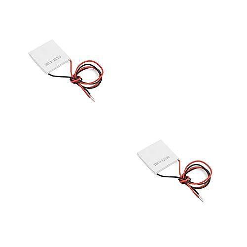 Movilideas - 2 Unidades de Celula Peltier Termoelectrica Ceramica TEC1 12706 12V 60W 6A Disipador Enfriador