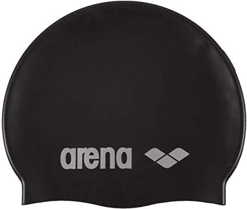 Arena Classic Gorro de Natación, Unisex Adulto, Negro (Black/Silver), Talla Única