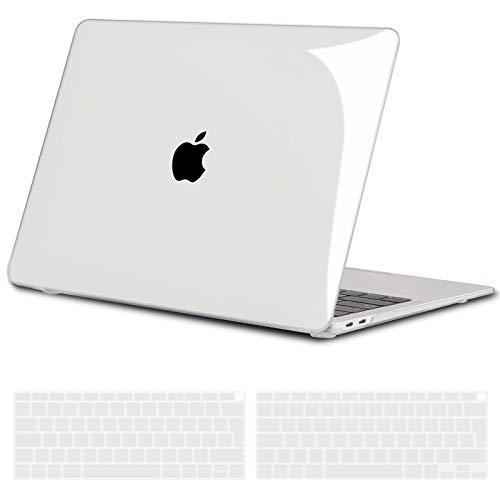 TECOOL Funda para 2020 2019 2018 MacBook Air 13 Pulgadas A2337 (M1) / A2179 / A1932, Cubierta de Plástico Dura Case Carcasa con Tapa del Teclado para Nuevo MacBook Air 13 con Touch ID - Transparente
