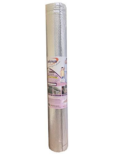 Optimer System - Aislamiento térmico reflexivo multicapa burbujas y aluminio para frío y calor - 6m2 - para puertas de garaje, cajones de persiana, contadores de agua y calefacción de Polynum