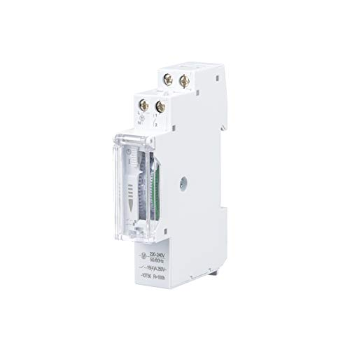POPP Electric Temporizador diario analógico para montaje en panel, en pasos de 24 horas 15 min, 230 V, max. 3500 W. (YX180)