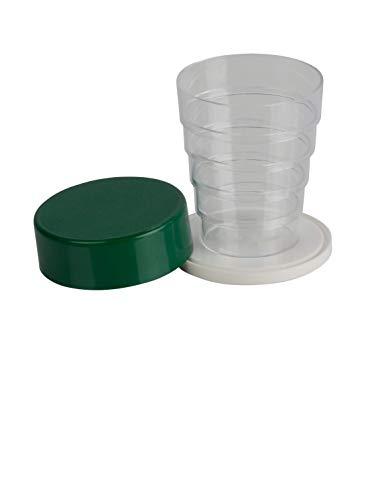 Kimmel Vaso plegable con espejo para camping, picnic, viajes, hogar, cristal verde transparente, tamaño único
