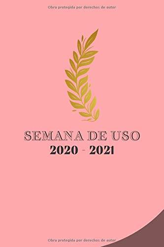 Calendario Semanal 2020 - 2021: Agenda que incluye: un calendario anual de septiembre a septiembre / días festivos / horario / lista de contactos / Profesor.