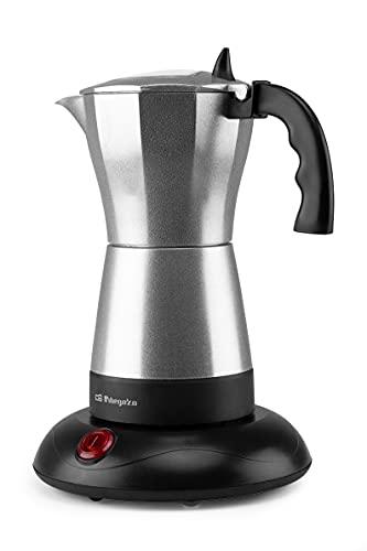 Orbegozo KFE 660 - Cafetera italiana, 3-6 tazas, apagado automático, base de tacto frío, café caliente durante 30 minutos, 480 W