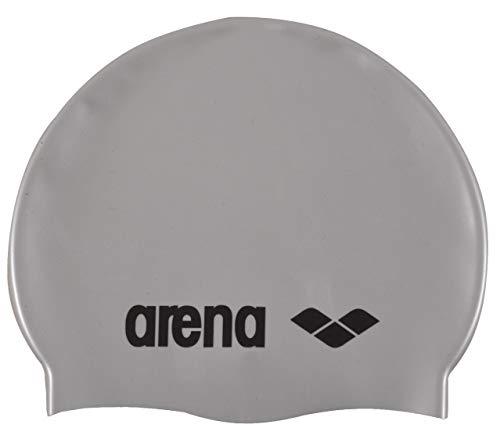 Arena Classic Gorro de Natación, Unisex Adulto, Plateado (Silver/Black), Talla Única
