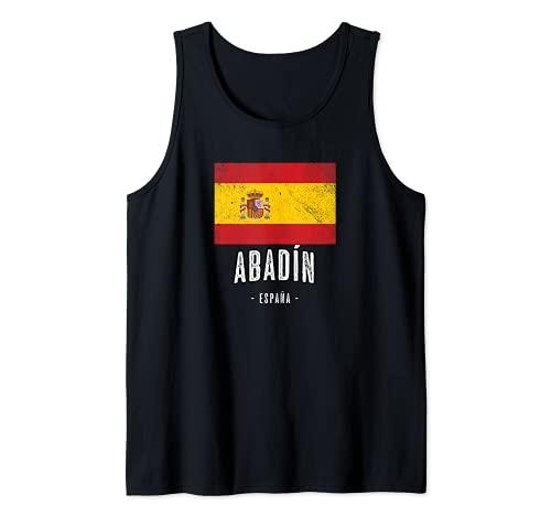 Abadín España | Souvenir - Ciudad - Bandera - Camiseta sin Mangas