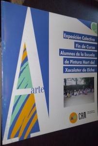 Exposición colectiva fin de curso alumnos de la Escuela de Pintura Hort del Xocolater de Elche. Sala de Exposiciones de la Caja de Ahorros del Mediterráneo. Del 14 al 23 de Junio de 1996