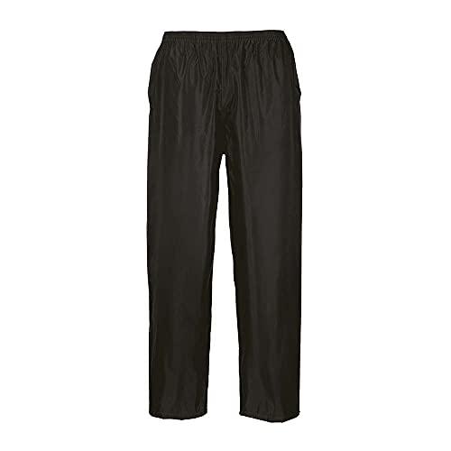 Portwest Pantalones para lluvia Classic Unisex, Color: Negro, Talla: M, S441BKRM