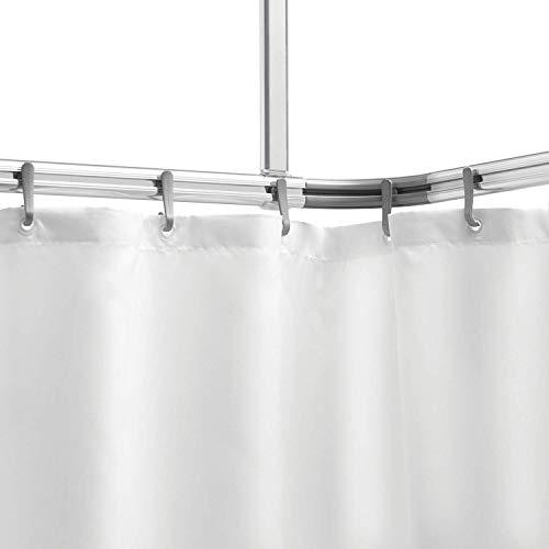 Sealskin Easy Roll Juego de Barra Angular, Raíl para Cortina de Ducha, Metal, Plateado, 2,8x90x1,6 cm