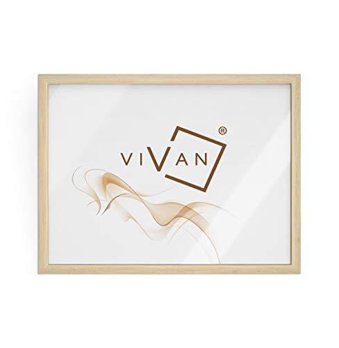 Vivan - Marco de madera - Color marrón (madera natural) - Tamaño de la imagen 30 x 40 cm