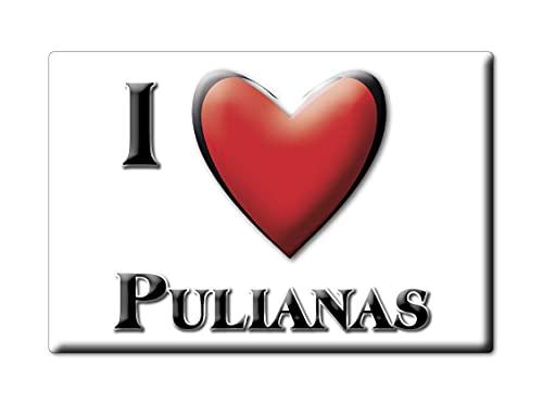 Enjoymagnets PULIANAS (GR) Souvenir IMANES DE Nevera ESPAÑA ANDALUCÍA IMAN Fridge Magnet Corazon I Love