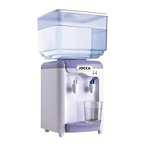 Jocca Dispensador de Agua con depósito de 7 litros, Blanco y Morado, 24.5 x 23 x 34 cm