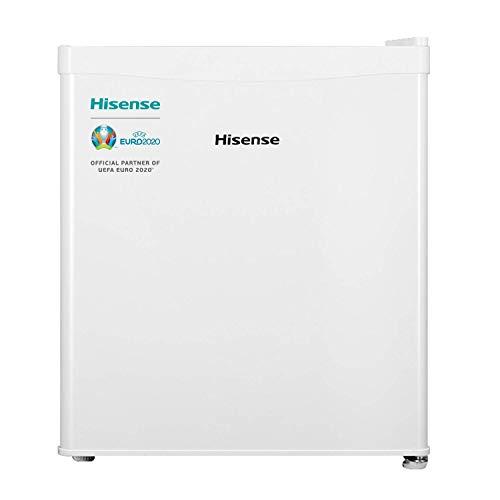 Hisense RR55D4AW1 - Mini Bar, Frigorífico Pequeño, 42 L de Capacidad Neta, 51 Cm Alto, Table Top, Una Puerta Reversible, Clase A+, Bajo Encimera, Silencioso, Color Blanco
