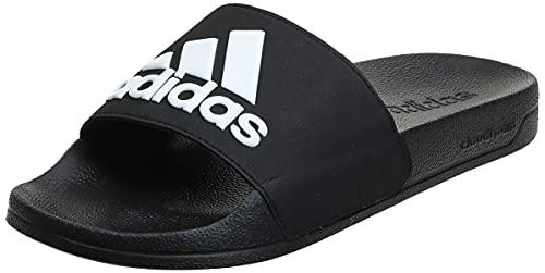 adidas Adilette Shower Stripes, Chanclas Hombre, Core Black Footwear White 70, 44.5 EU