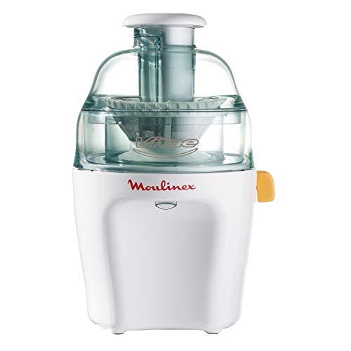Moulinex Vitae JU200045 - Licuadoras para Verduras y Frutas, 200 W, Velocidad 12.800 rpm, Tapa y Contenedor Pulpa Transparente, Extractor de Jugos con Filtro de Inoxidable Compatible Lavavajillas