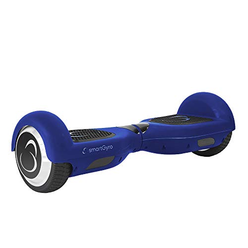 SMARTGYRO X2 V.3.0 Blue Patinete Eléctrico Hoverboard, Antipinchazos, Batería de Litio 4400 mAh, Velocidad Máxima 12 Km/h, Certificado UL, Unisex Niños, Azul, 6.5 Pulgadas