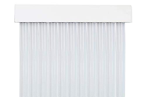 MERCURY TEXTIL Cortina para Puerta Tiras PVC 210x90cm,Cortina para Puerta Exterior (Transparente P5)