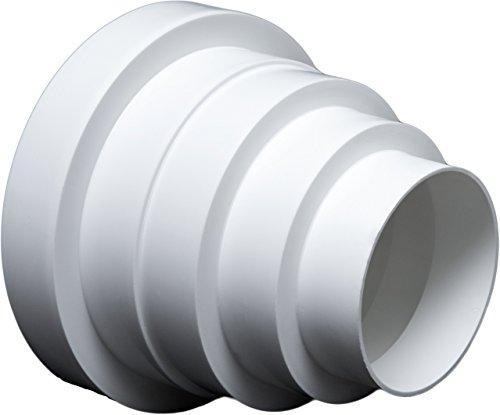 Universal - Reductor para sistemas de ventilación Diámetro 80 - 150 mm. Reductor del conector Reducción tubo diámetro 80 100 120 125 150 mm. Transición ventilación Tubo Redondo Canal. rdrc.