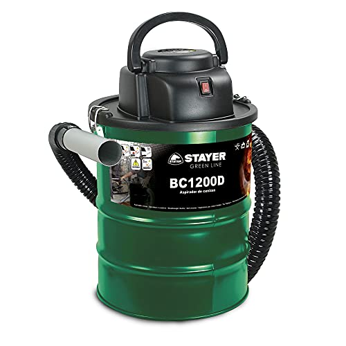 Stayer 1200D Aspirador de Ceniza BC 1200 D, W, 230 V, Verde, 0