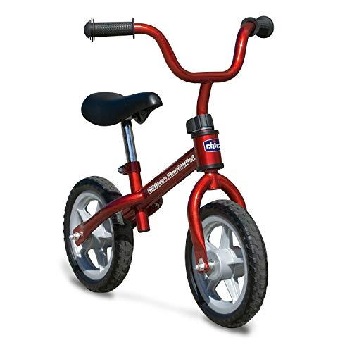 Chicco Bicicleta sin Pedales First Bike para Niños de 2 a 5 Años hasta 25 Kg, Bici para Aprender a Mantener el Equilibrio con Manillar y Sillín Ajustables, Rojo - Juguetes para Niños de 2 a 5 Años