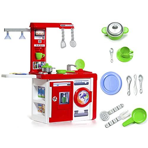 MOLTO | Cocinita de Juguete para Niña y Niño con Electrodomésticos y Luces Reales | Juguetes Educativos para Niños | A Partir de 3 Años