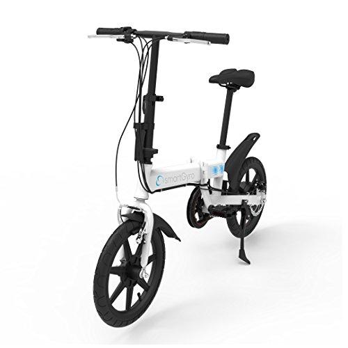 SMARTGYRO Ebike White - Bicicleta Eléctrica, Ruedas de 16', Asistente al Pedaleo, Plegable, Batería extraíble de Litio de 4400 mAh, Freno V-Brake y Disco, Autonomía 30-50 Km, Color Blanco