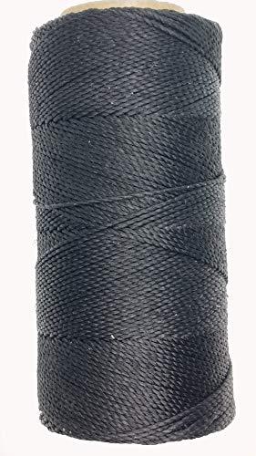 LINHASITA Bobina hilo encerado Linhasita 100gr / 170 metros 1 mm de grosor poliester (Negro)