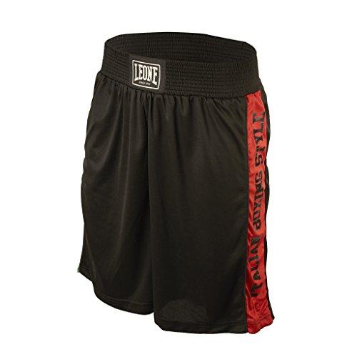 Leone 1947 AB739 Pantalones Cortos de Boxeo, Unisex – Adulto, Negro, M