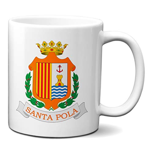 Planetacase Taza Santa Pola Escudo Ciudades pueblos Alicante Ceramica 330 mL