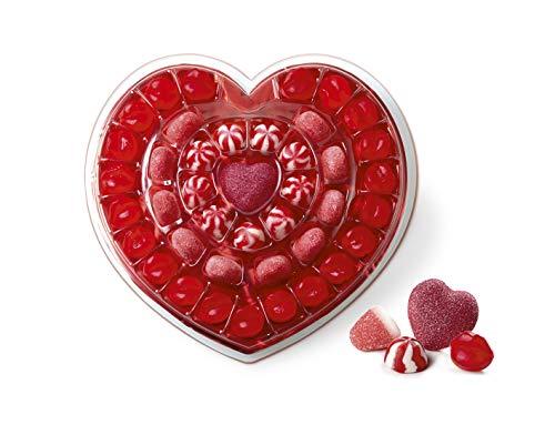 Gommy's Factory Tarta Regalo de Gominolas con Forma de Corazón, 41 Golosinas, 250 Gramos