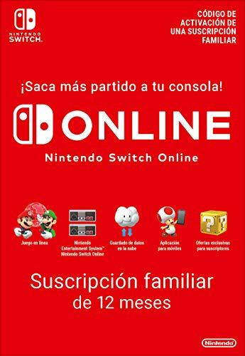 Switch Online Suscripción Familiar de 12 Meses   Nintendo Switch - Código de descarga
