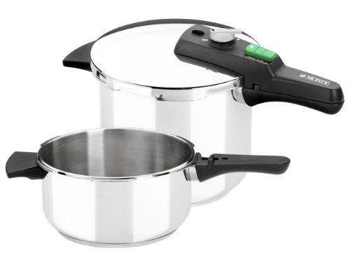 Monix Quick - Set de dos ollas a presión rápidas de 4 litros y 6 litros