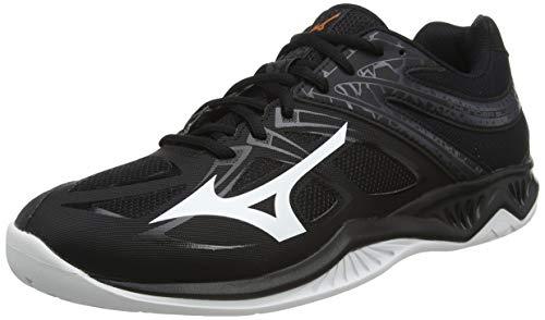 Mizuno Thunder Blade 2, Zapatillas de vóleibol Unisex Adulto, Negro/Blanco/Ébano, 46 EU
