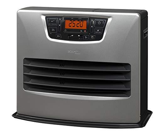 Estufa de parafina electrónica Zibro Made by Toyotomi LC-150, 4,85kw, color plata, superficie hasta 76m2. Exclusivo sistema anti-olor, grande