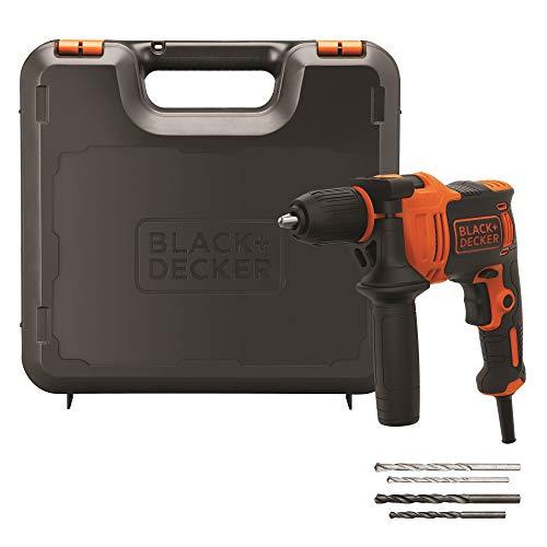Black+Decker BEH710K-QS Taladro Percutor 710W, 710 W, 230 V, Naranja/Negro