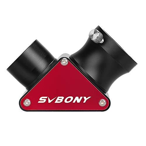 Svbony SV188P Espejo Diagonal Telescopio,99% de Reflectividad Diagonal Dielectrica,1.25in 90 Grados Espejo Diagonal Telescopio Dielectrica