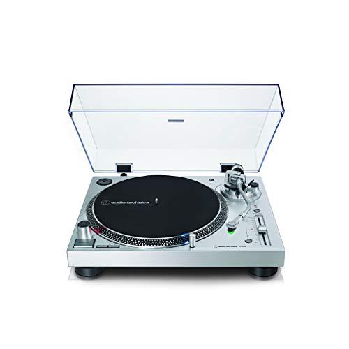 Audio-Technica AT-LP120X, Giradiscos de Tracción Directa (Analógico y USB), Plata