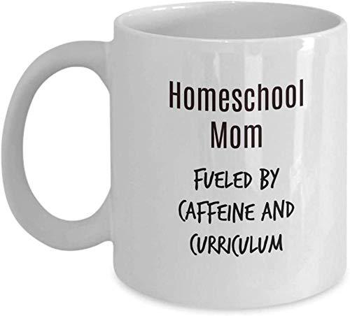 PAWANG Agregue A La Diversión Taza De Cerámica con Cafeína Divertido Y Currículum Homeschool Mom 11 Oz Blanco